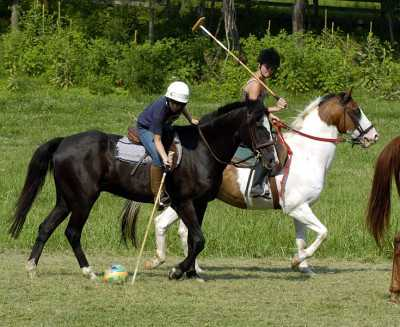 Stick-and-ball polo lessons -- and real games -- are part of what makes well-rounded, competent riders (as opposed to a 'passenger') out of Hunter's Rest students.
