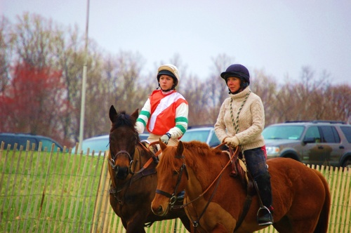 Students at Hunter's Rest receive the unique opportunity to refine their riding to the point of serious competition, including horse showing, eventing, dressage, judged trail, hunter paces, hunter trials and -- shown here -- junior steeplechasing.